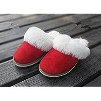 Donna Casual Pantofole di cotone, interni per mantenere caldo in autunno e in inverno di (Womens Hard Cap)