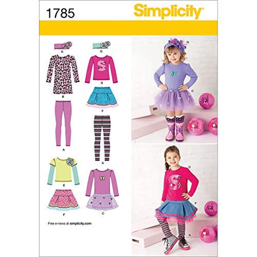 Simplicity Muster 1785. BB 4–8Kleinkinder und Kinder Sportswear (Elite Sportswear)