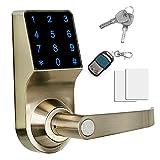 THINK SOGOOD Elektronisches Türschloss aus Zinklegierung Zutrittskontrolle mit Kombination , Passwort + Fernbedienung + Schlüssel und IC Karte für Handelsbüro und Wohnprojekte