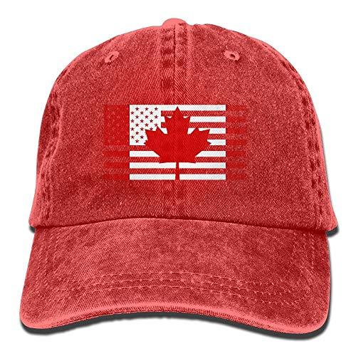 AOHOT Herren Damen Baseball Caps,Hüte, Mützen, Classic Baseball Cap, American Canada Flag Denim Hat Adjustable Unisex Low Baseball Hats