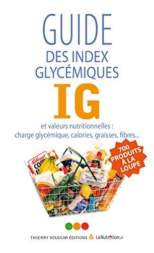 Guide des index glycémiques (IG)