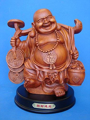 """12""""dinero Estatua de Buda, Buddha sonriente"""