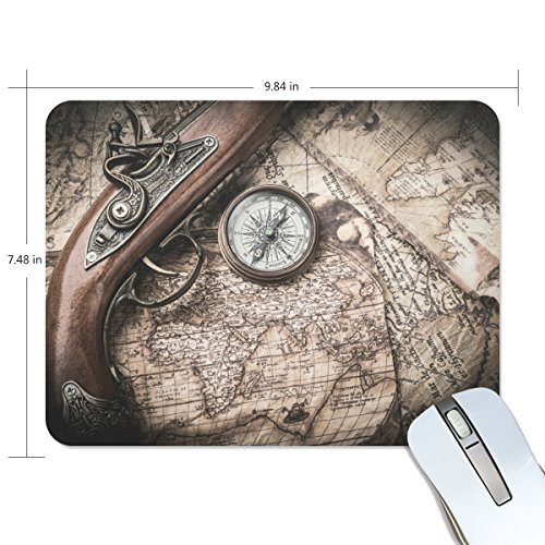 zzkko Kompass Old Map Steampunk rutschfest 25 cm (L) x7.48