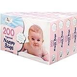 4x fragancia de pañal bolsa caja de 200(total 800)