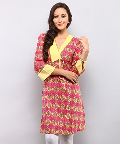 Yepme Lisette Printed Kurti - Red & Yellow - YPMKURT1013_S  available at amazon for Rs.249