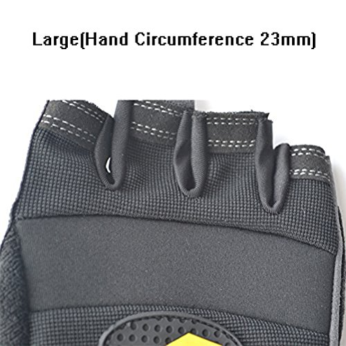 Men & Women Breathable Fitness Weight Lifting Glove Best for Summer Training Training-Biking-Cycling-Best for Comfort-Grip and Callus Protection Large A