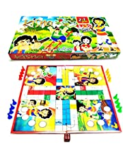 Prezzie Villa 2 in 1 Kisna Ludo and Snakes & Ladder Game for Kids Friends Family