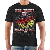 Männer und Herren T-Shirt Mein Trikot ist Schwarz Rot Gold Russland 2018 (mit Rückendruck) Größe S - 8XL