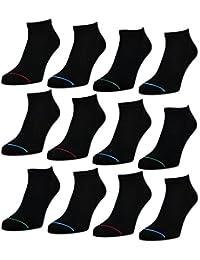 8 oder 12 Paar Herren Sneaker Socken Schwarz Sportsocken Baumwolle Herrensocken - 16766 - sockenkauf24