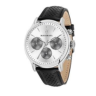 Reloj para Hombre, Colección Epoca, Movimiento de Cuarzo, multifunzione, en Acero y Cuero – R8851118009