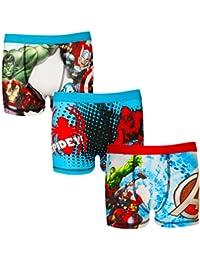 Marvel Avengers Assemble - Jungen Boxershorts mit Hulk- & Iron Man-Motiv- Offizielles Merchandise - Geschenk - 3 Paar