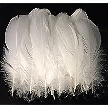 ERGEOB® 100 piezas Boda de la pluma DIY plumas plumas de ganso chapucero 15-20cm grandes plumas decorativas