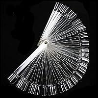chinkyboo Clear False Nail Art Tips Sticks polish Display Fan Practice salon-Pack of 50