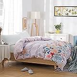 Cubierta moderna del edredón del estilo minimalista cubierta del edredón del algodón del plantas y flores cubierta de edredón-C 180x220cm(71x87inch)
