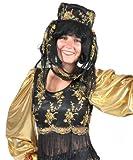 Kostüm Orientalin Schakira Größe 40/42 Damen Bauchtänzerin Orient Märchen Gold Schwarz Karneval Fasching Pierros