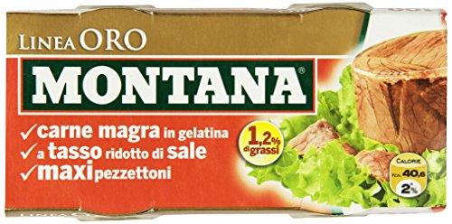 Montana Carne Gel Linea Oro - 4 confezioni da 2 pezzi da 140 g [8 pezzi, 1120 g]