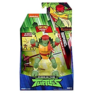 Teenage Mutant Ninja Turtles Figuras de acción TUAB2400 The Rise Deluxe - Raphael Carwheel Attack