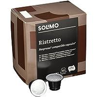 Marque Amazon- Solimo Capsules Ristretto, compatibles Nespresso- café certifié UTZ, 100 capsules (2 x 50)