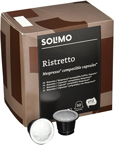 Marca Amazon - Solimo Cápsulas Ristretto