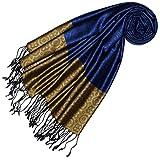 Lorenzo Cana Luxus Damen Pashmina 70% Seide 30% Viskose mit Krawattenmuster Schaltuch 70 x 190 cm zweifarbig Schal Stola Damenschal Damen