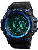 Findtime Herren Uhr Digital Quarzwerk mit Silikon Armband Kompass Schrittzähler Thermometer Wettervorhersage Barometer Altimeter Höhenmesser Outdoor