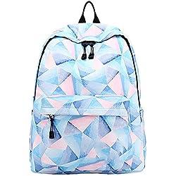 Mignon enfants école Bookbags pour les filles, mignon casual sac à dos léger College Sacs femmes Daypack Travel Bag par motif floral