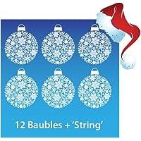 Aurum92 Christmas Bauble Window Stickers Clings - New