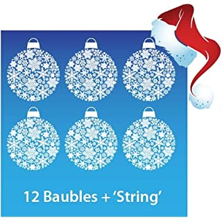Aurum92 Christmas Bauble Window Stickers Clings - New
