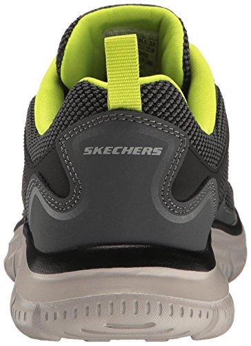 Skechers Herren Track Laufschuhe Grau (Charcoal/lime)