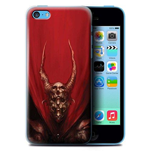 Offiziell Chris Cold Hülle / Case für Apple iPhone 5C / Pack 10pcs Muster / Dunkle Kunst Dämon Kollektion Rot Herzog