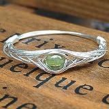 19#(15.75#-21.25# Available)Natürliche Peridot Stein Sterling Silber String Wicklung Edelstein Handgefertigt Ring