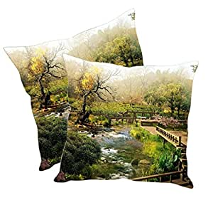 Sleep Nature's Velvet Cushion Covers Set of 2 - (Size-12x12 inches)