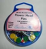 Hemline Flower Head Pins, 54mm, pk of 60