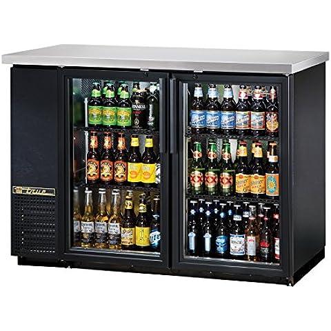 True tbb-24–48g-ld doble puerta trasera Bar enfriador de botellas, negro