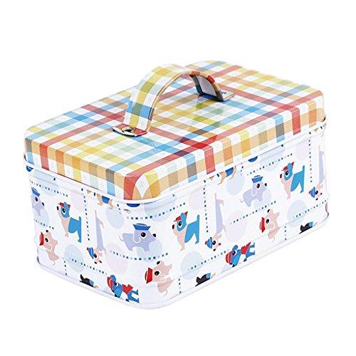 Non-brand Weißblech Schmuck Tee Süßigkeits Geschenkbox Speicher Gläser Mit Deckel - Hund -