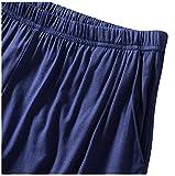 Dolamen-Uomo-Pantaloni-Pigiama-Shorts-Cotone-Modale-Boxer-Pantaloncini-Corti-Pantaloni-da-Pigiama-biancheria-da-notte-Cintura-elastica-registrabile