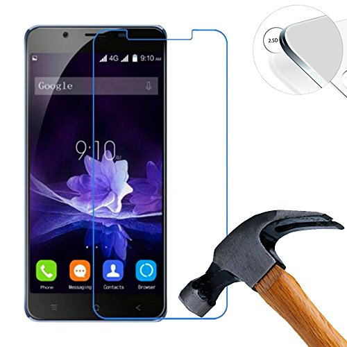 2 X Pack Hart Panzerglasfolie Schutzfolie für Blackview P2 / P2 Lite 5.5 Zoll Tempered Glass Folie Screen Protector Panzerfolie Glasfolie (Nur den flachen Teil abdecken)