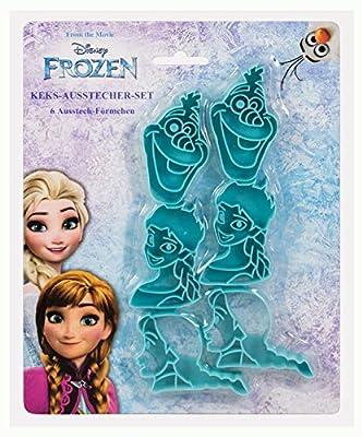 p:os handels gmbh 28290 - Moldes para Galletas (6 Unidades, plástico, sin BPA ni ftalatos), diseño de Frozen de Disney de P:OS Handels GmbH