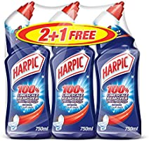 Harpic Toilet Cleaner Liquid Limescale Remover Original, 750ml 2+1