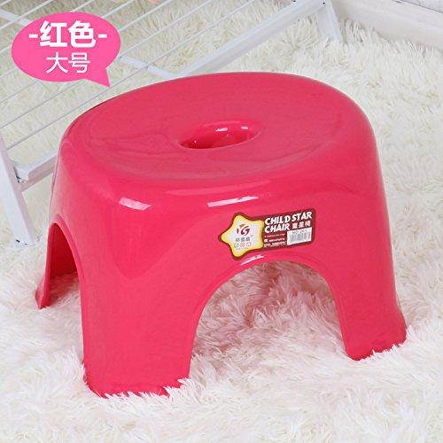 Dana Carrie Un minimaliste et élégant tabouret en plastique épais bancs accueil enfants adultes sur un tabouret bas en gros de 5PCS, rouge ,29CM