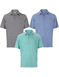 Woodworm Tournament Stripe Golf Mens Golf Polo Shirts 3 Pack