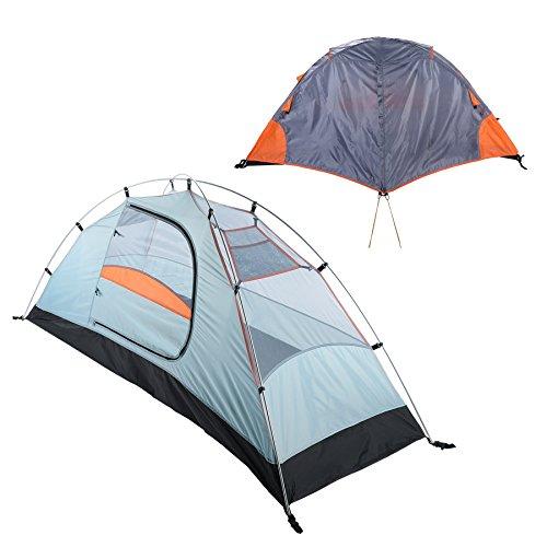 Pinty 1 Person Campingzelt Rucksack Zelt Kuppelzelt Trekkingzelt Einmannzelt Backpack Tent Wasserdicht für Wandern Reisen Camping Outdoor