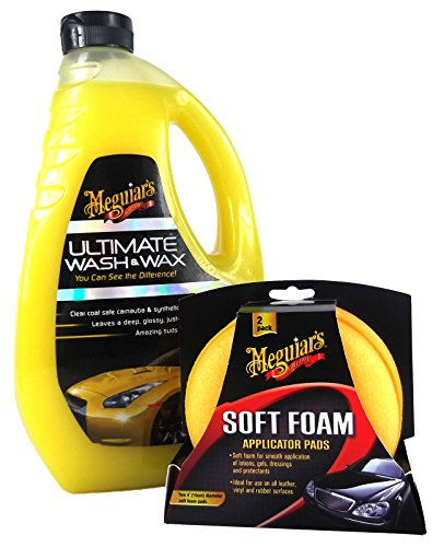 MEGUIAR'S MEGUIARS Ultimate Wash & Wax Autoshampoo & High Tech Polierschwamm -