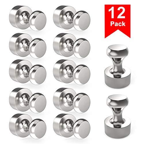 Neodym Magnete 12 Stück Extra Stark N52 Mini Magnet mit Aufbewahrungsbox für Magnettafel, Stecktafel, Kühlschrank, Kegelmagnete, Notenmagnete,vernickelter Stahl Magnete (12 x 16 mm)