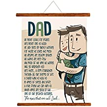 Yaya Cafe Fathers Day Greeting Cards Greatest Blessing Dad Message Scroll Card for Dad Wall Hanging Decor | Dad Birthday Gifts - 15x20 inches