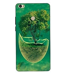 Make My Print Tree Printed Green Hard Back Cover For Xiaomi Redmi MI MAX