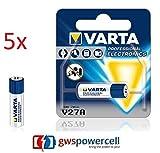 GWS-POWERCELL® VARTA PROFESSIONAL ELECTRONICS V27A jeweils im Einzelblister verpackt / NEU & OVP (V27A, 5 Stück)