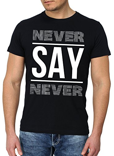 Goodflow Slim Fit T-Shirt Männer Verschiedene Designs Schwarz Hipster Motive Never say never