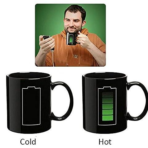 [ Kostenlose Lieferung - 7-12 Tage] Magie Battery Morph Porzellan Temperatur Farbwechsel Becher Schale BML® // Magic Battery Morph Porcelain Temperature Color Changing Mug Cup