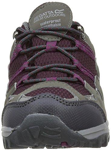 Regatta Garsdale Low, Chaussures de randonnée fille Multicolore (Steel/Dark Burgandy)